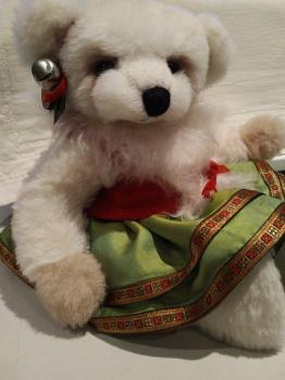 'Chrisi Christmas'  -  German Alpaca Bear  -  40 cm
