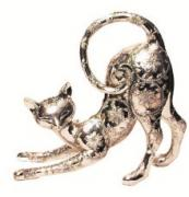 Silver Siamese Playful Cat  -  23 cm (TNAN 77)
