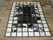 Black & White Squares  -  Nguni Hide.  (Per Square metre) ()