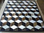 3D Diamond Design Nguni Hide.  (Per Square Metre) ()