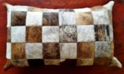 Nguni Hide Cushion  -  Long (ERCUBRSQ64)