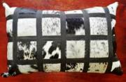 Nguni Hide Cushion  -  Long (ERCUBWSQ64)