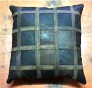 Brown Leather Cushion. (ERCUBNLL)