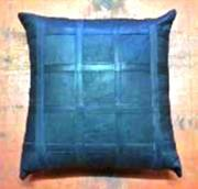 Black Leather Cushion (ERCUBLLL)