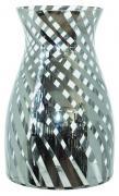 Genoa Silver Stripe Vase  -  30 x  19 cm (TSHL 80)