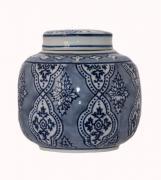 Oriental Jar with Lid  -  13 cm (TDAB 78)