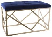 Royal Blue / Gold Long Ottoman  -  70 x (TSTA 13)