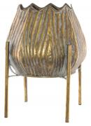 Kara Metal Pot on Stand  -  28 x 36 cm (TFMR 30)