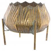 Kara Metal Pot on Stand  -  33 x 29 cm (TFMR 31)